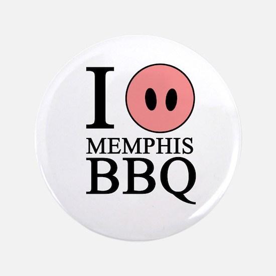 "I Love Memphis BBQ 3.5"" Button (100 pack)"