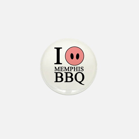 I Love Memphis BBQ Mini Button