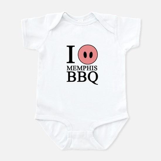 I Love Memphis BBQ Infant Bodysuit
