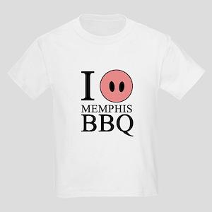 I Love Memphis BBQ Kids Light T-Shirt