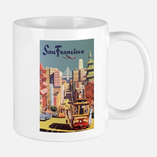 Vintage Travel Poster San Francisco Mug