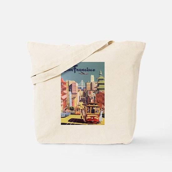 Vintage Travel Poster San Francisco Tote Bag