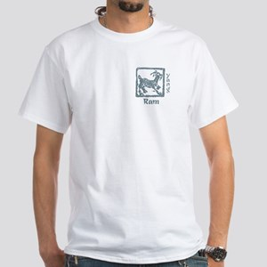 Zodiac Ram White T-Shirt