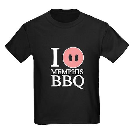 I Love Memphis BBQ Kids Dark T-Shirt