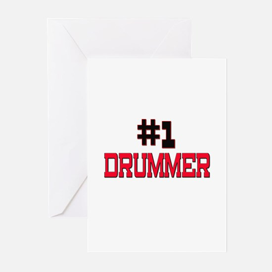 Number 1 DRUMMER Greeting Cards (Pk of 10)
