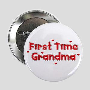 "Heart 1st Time Grandma 2.25"" Button"