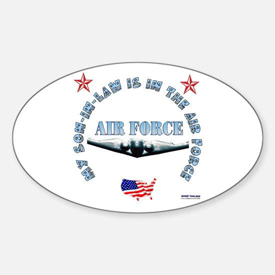 Air Force Son-in-Law Oval Decal