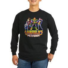 Pet Force - Line Up Long Sleeve Dark T-Shirt