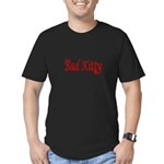 Bad kitty Men's Fitted T-Shirt (dark)