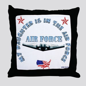 Air Force Daughter Throw Pillow