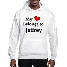 My Heart Belongs to Jeffrey Hooded Sweatshirt