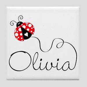 Ladybug Olivia Tile Coaster