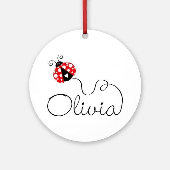 Ladybug Olivia Ornament (Round)