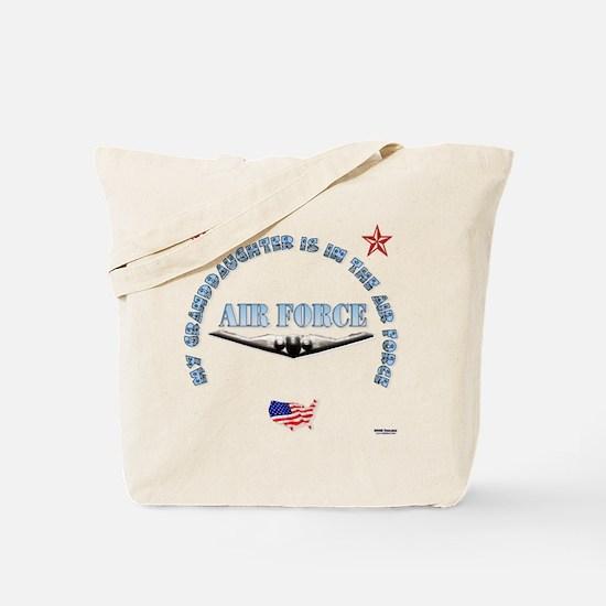 Air Force Granddaughter Tote Bag