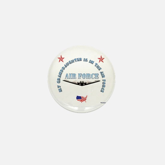 Air Force Granddaughter Mini Button