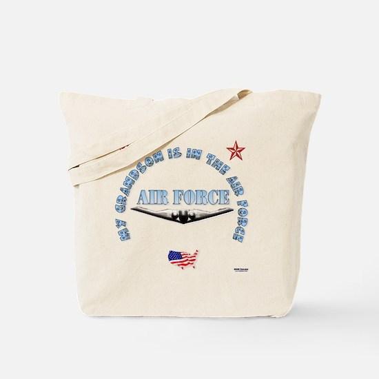 Air Force Grandson Tote Bag