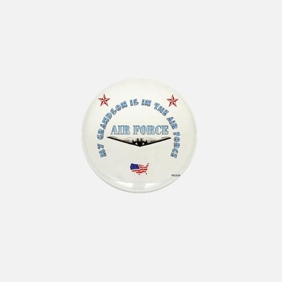 Air Force Grandson Mini Button