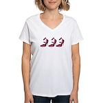 Punk Pink Women's V-Neck T-Shirt