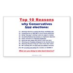 Why Conservatives lose (Rectangle Sticker 10 pk)