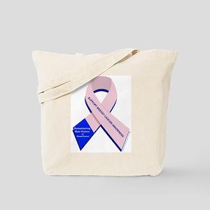 Male Breast Cancer Tote Bag