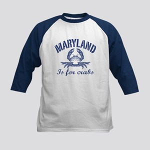 Maryland Is for Crabs Kids Baseball Jersey