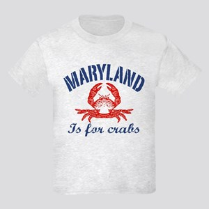 Maryland Is for Crabs Kids Light T-Shirt