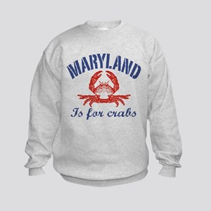 Maryland Is for Crabs Kids Sweatshirt