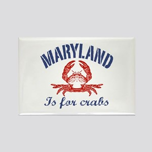 Maryland Is for Crabs Rectangle Magnet