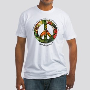 Fitted T-Shirt Peace Organic Vegetables