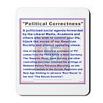 Political Correctness Threat Mousepad w/FLAG