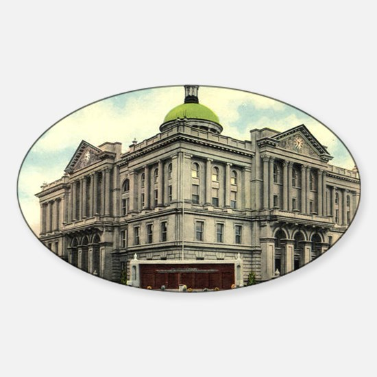 Court House 1 Huntington Indi Oval Decal