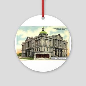 Court House 1 Huntington Indi Ornament (Round)