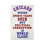 Corrupt Chicago Rectangle Magnet