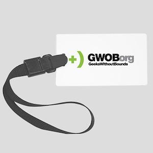 Gwob Logo W Text Large Luggage Tag