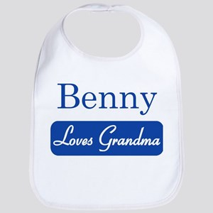 Benny loves grandma Bib