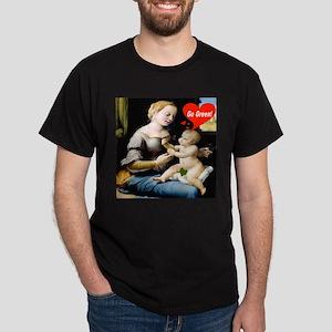 """Baby Jesus says, """"Go Green!"""" Dark T-Shirt"""