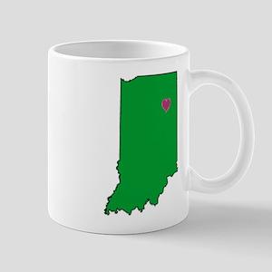 State Map Indiana Mug