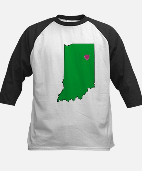 State Map Indiana Kids Baseball Jersey