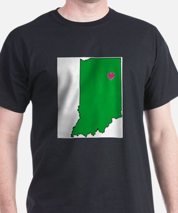State Map Indiana T-Shirt