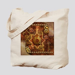 Steampunk, noble design with gears and key Tote Ba