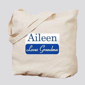 Aileen loves grandma Tote Bag