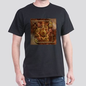 Steampunk, noble design with gears and key T-Shirt
