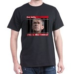 Dear Santa Bush in Jail Black T-Shirt