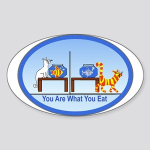 What You Eat Oval Sticker
