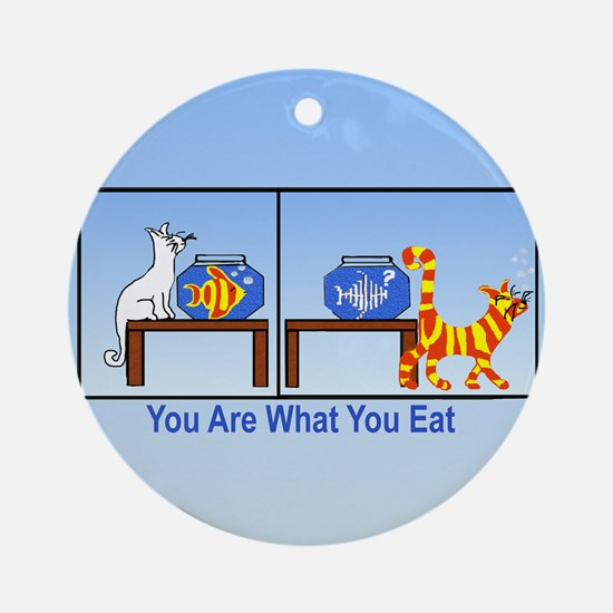 What You Eat Ornament (Round)