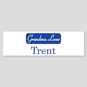 Grandma Loves Trent Bumper Sticker