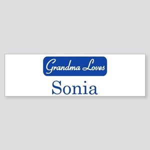 Grandma Loves Sonia Bumper Sticker