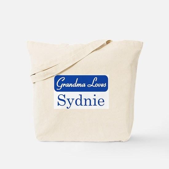 Grandma Loves Sydnie Tote Bag