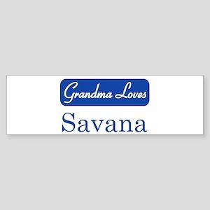 Grandma Loves Savana Bumper Sticker