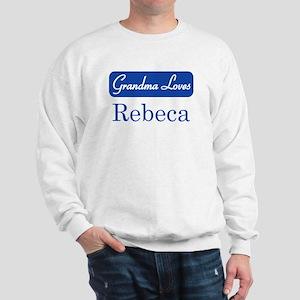 Grandma Loves Rebeca Sweatshirt